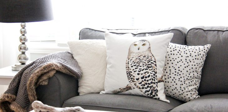 Decorating with winter throw cushions
